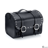 Nomad USA Leather Black Studded Motorcycle Sissy Bar Bag