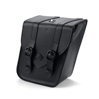 Viking Dark Age Compact Strapped Leather Motorcycle Saddlebags For Sportster 1200 Nightster XL1200N