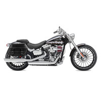 Viking Specific Studded Saddlebags For Harley Softail Breakout