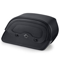 Viking Warrior Slanted Large Motorcycle Saddlebags For Harley Softail Low Rider S FXLRS