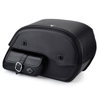 Viking Side Pocket Large Motorcycle Saddlebags For Harley Softail Low Rider S FXLRS