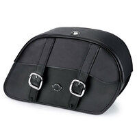 Viking Charger Slanted Large Motorcycle Saddlebags For Harley Softail Low Rider S FXLRS