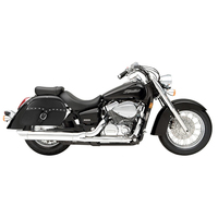 Honda 750 Shadow Aero Charger Medium Studded Leather Saddlebags 2