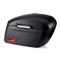 Honda 1100 Shadow ACE Saddlebags Viking Lamellar Extra Large Shock Cutout Leather Covered Saddlebag