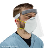 Medical Face Shield On Person - Angled