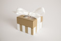Mini Gold and Ivory Stripe - 2 oz. Party Favor
