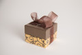 Gold and Chocolate Scroll Box - 2 oz Party Favor