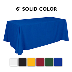 6ft. Adorn Stock Color Trade Show Table Throw Drape