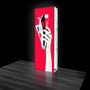 "Luminous Backlit 30"" x 90"" SEG Display Pillar (LB01) - front graphic only"