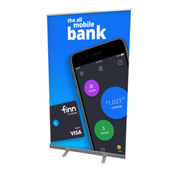 """45"""" Edge Retractable Banner Stand"""