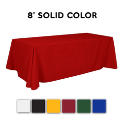 8ft. Adorn Stock Color Trade Show Table Throw Drape