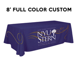 8ft. Adorn Custom Printed Full Color Trade Show Table Throw Drape