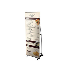 "24"" Edge H Frame Free Standing Banner Stand"