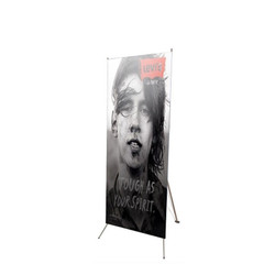 "32"" Edge X Frame Free Standing Banner Stand"