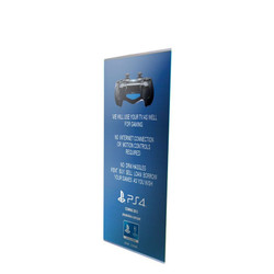 "33"" Edge L Frame Free Standing Banner Stand"