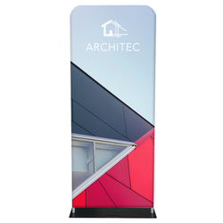 "36"" Rise Double-Sided Fabric Banner Stand"