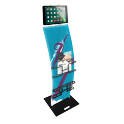 4ft. iPad Trade Show Display Stand - Deluxe Custom Printed Tablet Kiosk