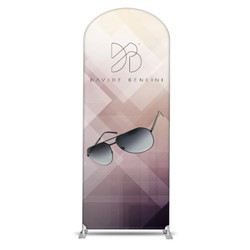 "38"" Rise XL Double-Sided Fabric Banner Stand (Round)"