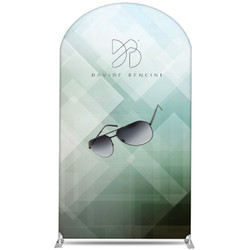 "58"" Rise XL Double-Sided Fabric Banner Stand (Round)"