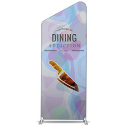 "38"" Rise XL Double-Sided Fabric Banner Stand (Slant)"