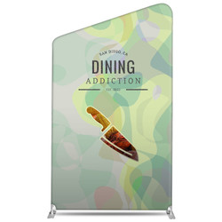 "58"" Rise XL Double-Sided Fabric Banner Stand (Slant)"
