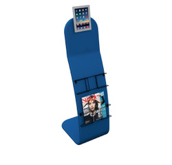 4ft. Tube iPad Trade Show Display Stand - Deluxe Custom Printed Tablet Kiosk