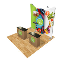 Connect 10x10 Trade Show Booth Kit (D)