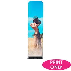 "24"" Rise Double-Sided Fabric Banner Stand Print Replacement"