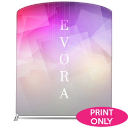 "78"" Rise XL Double-Sided Fabric Banner Stand (Curve) Replacement Print"