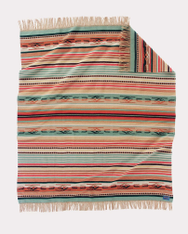 Chimayo Fringed Throw Coral by Pendleton