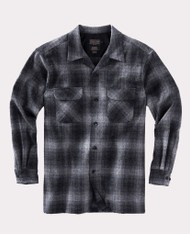 The Original Board Shirt-Tall Charcoal Grey Plaid By Pendleton