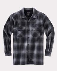 The Original Board Shirt-Tall Charcoal Grey Plaid By Pendleton