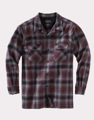 The Original Board Shirt-Tall Grey/Red Ombre By Pendleton