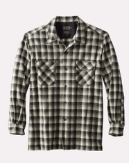 The Original Board Shirt-Regular Black White Shadow Check By Pendleton