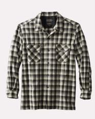 The Original Board Shirt-Regular Black White Shadow Check By Pendleton