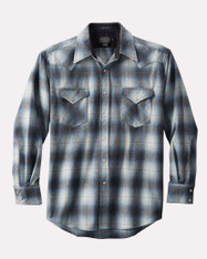 Canyon Shirt Tall Blue Grey Mix Ombre