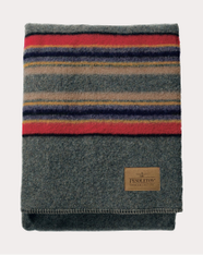 Green Heather Yakima Camp Throw Blanket by Pendleton