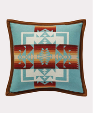 Chief Joseph Aqua Pillow