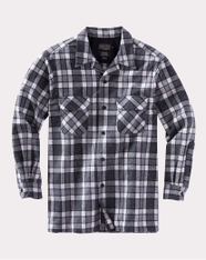 The Original Board Shirt-Tall Grey / Ivory Plaid By Pendleton