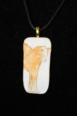 Orange Kitty Pendant