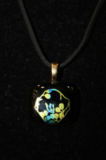 Dichroic Glass Pendant Flowers