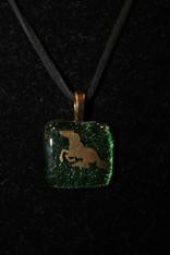 Dichroic Glass Pendant Horse