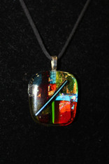 Dichroic Glass Pendant Rainbow Bar