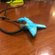 Turquoise Hummingbird  Necklace