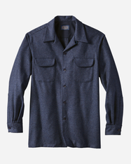 Navy Mix Board Shirt Regular