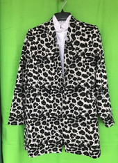 Knit Jacket Black Comb
