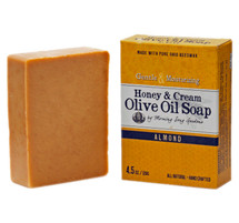 Honey & Cream Olive Oil Soap, Almond  (4.5 oz.)