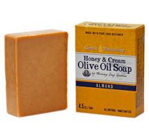 Honey & Cream Olive Oil Soap, Almond  (4.5 oz.)