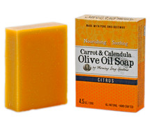 Carrot & Calendula Olive Oil Soap, Citrus (4.5 oz.)