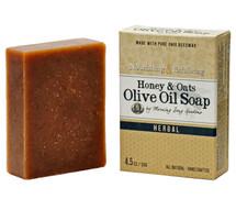 Honey & Oats Olive Oil Soap, Herbal (4.5 oz.)
